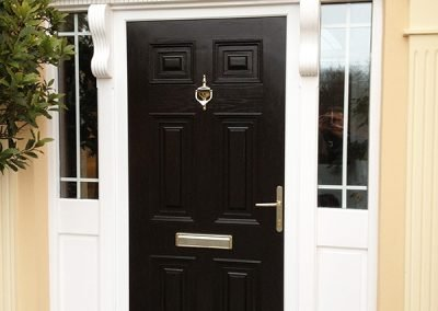 Black Georgian Composite Door With Arched Head