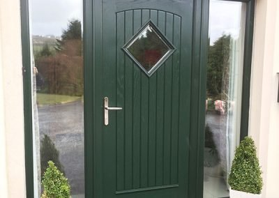 Green Edinburgh Composite Door