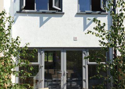 Light Grey PVC Windows And French Doors