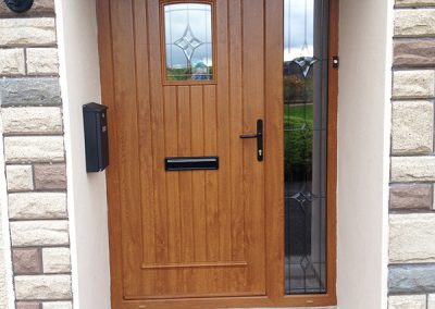 Light Oak T&G Glazed Composite Door