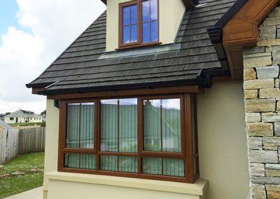 Oak PVC Windows