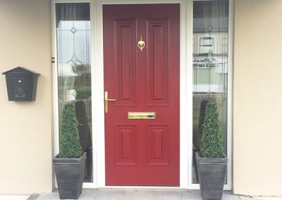Red Palermo Composite Door