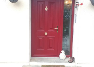 Red Palermo Soild Composite Door