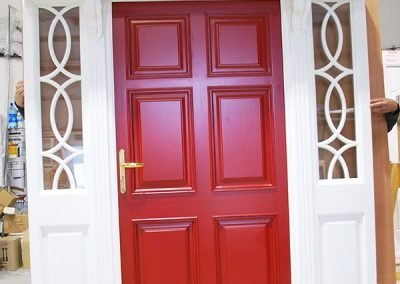 Red Timber Door