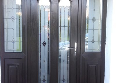 San Marco Decorative Glass Composite Door