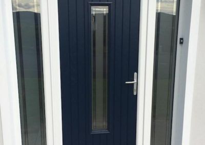 Blue-Seville-Composite-Door-With-White-Frame