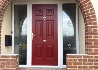 Red-Composite-Door-With-Sidelights-and-Toplight